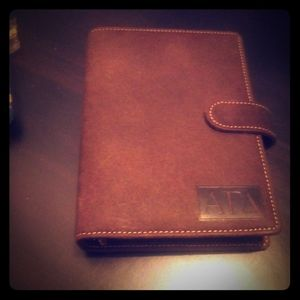 Leather infomate planner